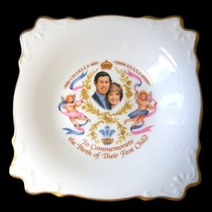 Charles & Diana Commemorate 1st Child Birth Plate